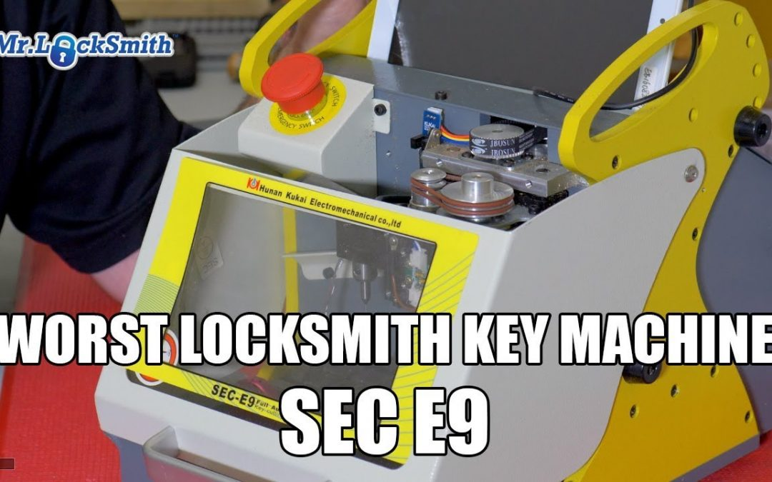 Worst Locksmith Key Machine SEC-E9 Key Cutting Machine | Mr. Locksmith