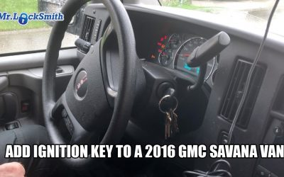 Add Ignition Key to a 2016 GMC Savana Van | Mr. Locksmith™ Blog