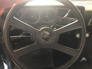 Steering wheel on a 1979 GMC Pickup